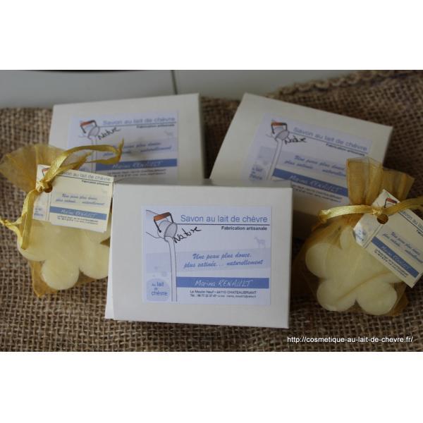 Savon lait de chèvre saponifié à froid - Marina Renault / Ferme du Moulin Neuf