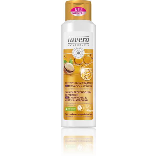 Shampooing 2 en 1 Après shampooing Soin et Réparation cheveux très secs Lavera