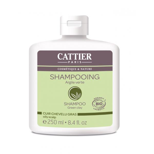 Shampooing à l'argile verte pour les cuirs chevelus gras - Cattier