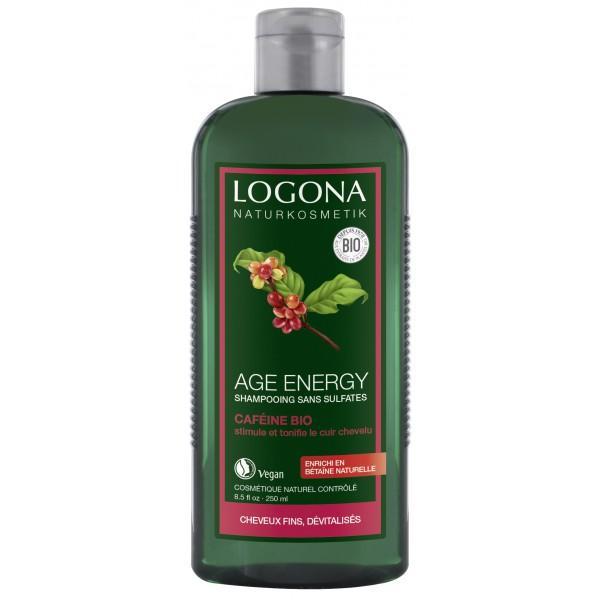 Shampooing Age Energy Caféine et Baies de Goji-Logona