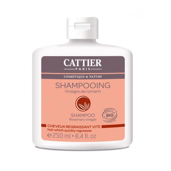 Shampooing au vinaigre de romarin pour les cheveux regraissant vite - Cattier