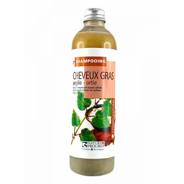 Shampooing Cheveux Gras à l'argile et ortie Laboratoire Gravier-Cosmo Naturel
