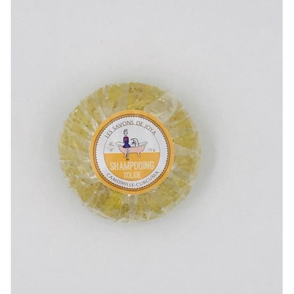Shampooing solide cheveux blonds camomille curcuma - Les Savons de Joya