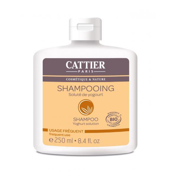 Shampooing soluté de yogourt  pour tout type de cheveux usage fréquent - Cattier