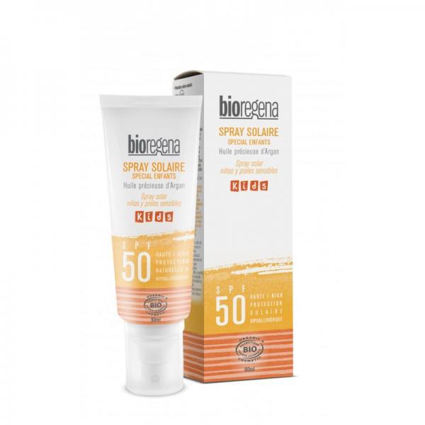 Spray solaire bio kids / enfants SPF 50 - Bioregena