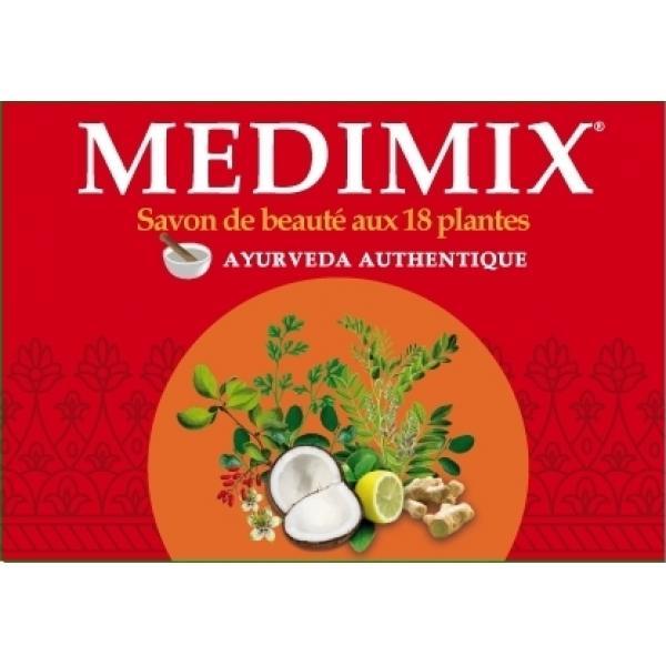 Véritable Savon Ayurvédique Médimix aux 18 Plantes Médicinales